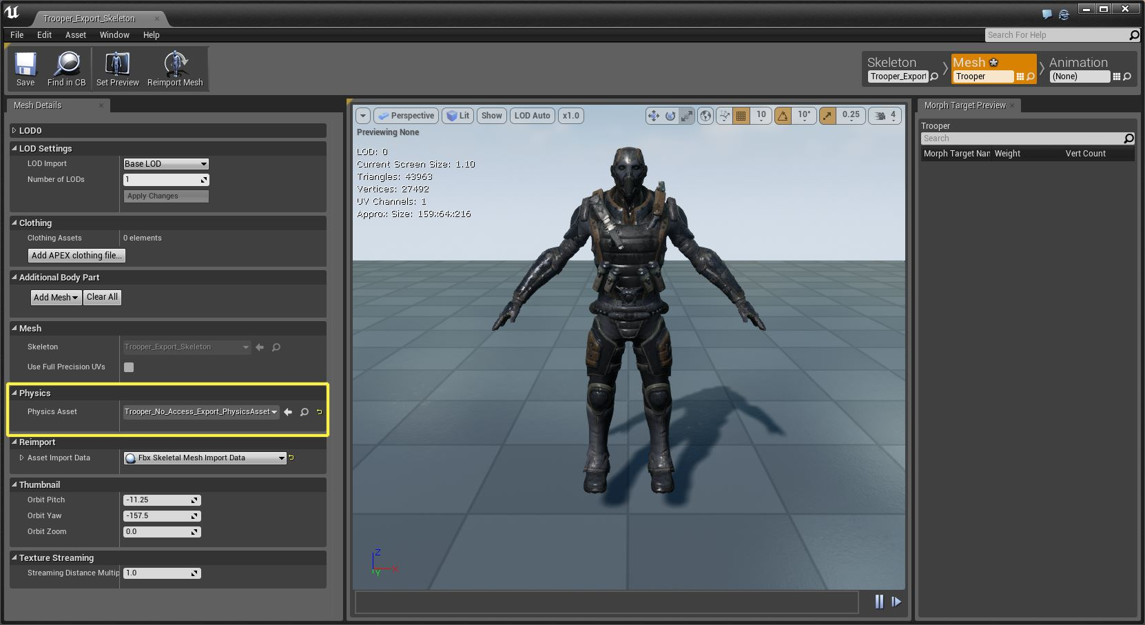 скелетал меш экторы в unreal engine 4