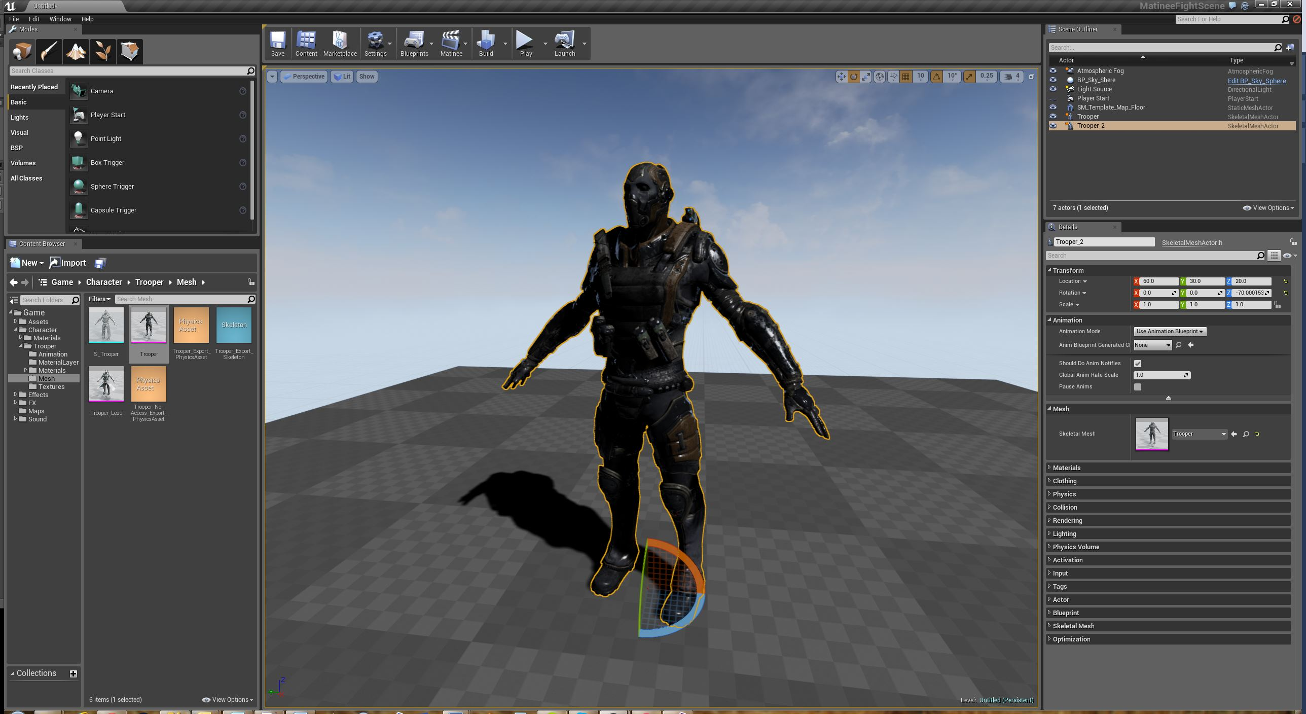 Unreal Engine 4 • » Skeletal Mesh объекты