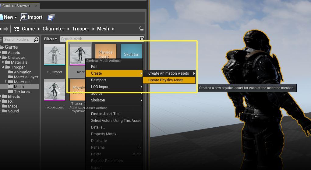 Unreal Engine 4 • » Skeletal Mesh объекты