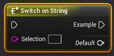 Switch on String