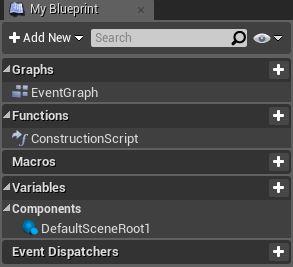 Панель My Blueprint