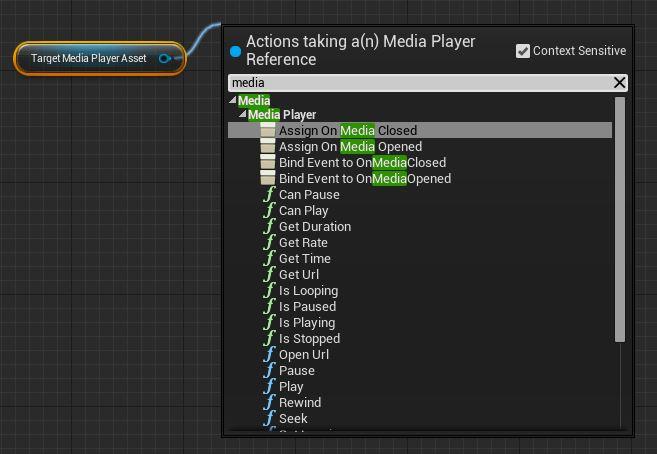 Media Framework в Unreal engine 4