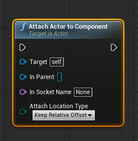 Attach Actor to Component
