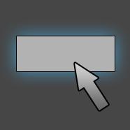 Выделение текстовой кнопки при наведении