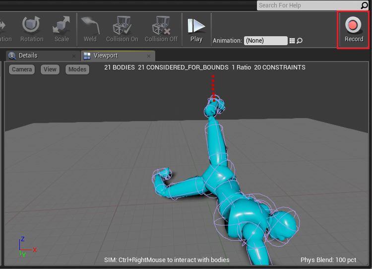 Создание физической анимации