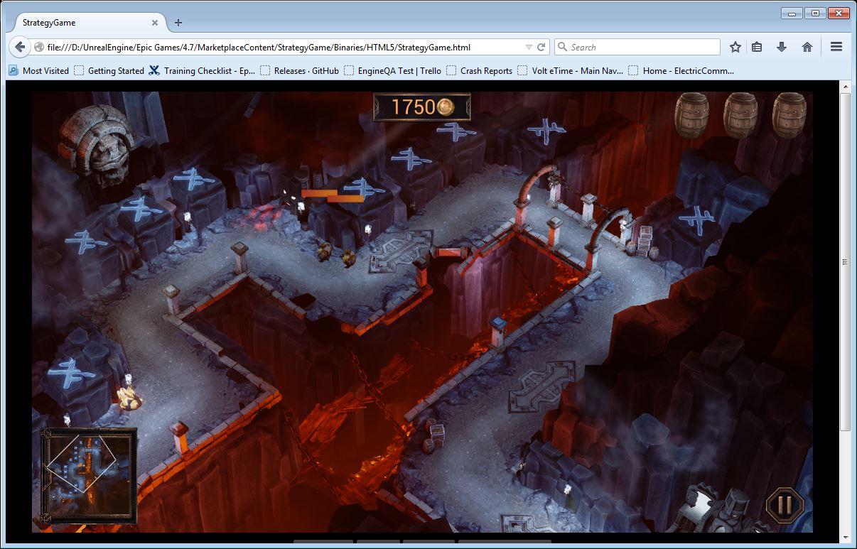 UE4 игра в браузере
